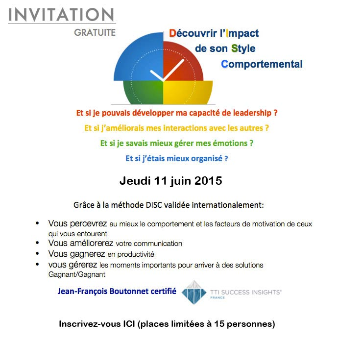 Invitation DISC 11 juin 2015